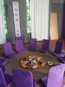 foto face circulo violeta